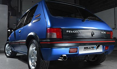 Pug 205 GTi performance exhaust and OEM-style tip by Milltek Classic